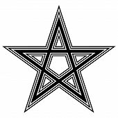 image of pentacle  - Pentagram icon on white background - JPG