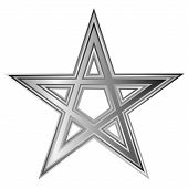 stock photo of pentacle  - Pentagram icon on white background - JPG
