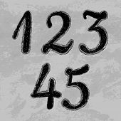 image of numbers counting  - Set of numbers - JPG