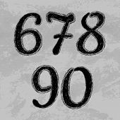 stock photo of numbers counting  - Set of numbers - JPG