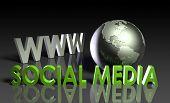 Постер, плакат: Социальные медиа