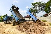pic of dumper  - dumper truck on construction site - JPG