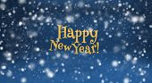 stock photo of sleet  - Happy New Year and snow - JPG