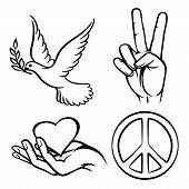 stock photo of v-day  - Peace symbols - JPG