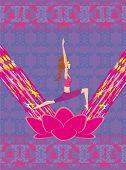 stock photo of pranayama  - woman in position yoga  - JPG