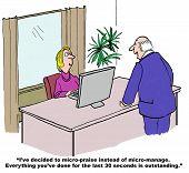 picture of praises  - Cartoon of businessman boss - JPG