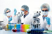 picture of scientific research  - Group of medical doctors in laboratory - JPG