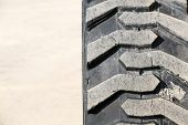 Постер, плакат: Heavy duty tire closeup