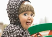 pic of tongue licking  - Portrait of kid with tongue on walk - JPG