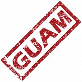 pic of guam  - New Guam grunge rubber stamp on a white background - JPG