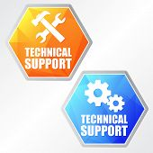 pic of gear wheels  - technical support with tools sign and gear wheels  - JPG