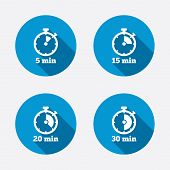 foto of stopwatch  - Timer icons - JPG