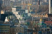 foto of kiev  - Kiev business and industry city landscape on river bridge and buildings - JPG