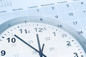 picture of punctuality  - Clock face and calendar composite - JPG