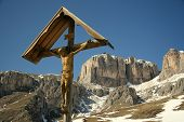 foto of crucifix  - wood crucifix mountain - JPG