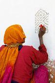pic of indian sari  - UDAIPUR - JPG