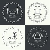 image of pastry chef  - Set of round frames and banners - JPG