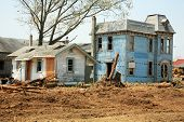 pic of raunchy  - abandoned old houses ready for demolition - JPG
