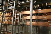 foto of busbar  - Copper busbar and insulator - JPG