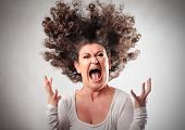 stock photo of angry  - Very angry woman - JPG