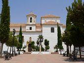 stock photo of urbanisation  - White church in Ronda Spain - JPG