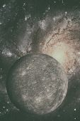 Solar System - Mercury. It Is The Smallest Planet In The Solar System. poster