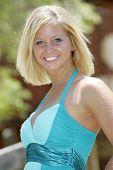 stock photo of girl next door  - blond model  - JPG