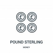Pound Sterling Icon Isolated On White Background From Money Collection. Pound Sterling Icon Trendy A poster