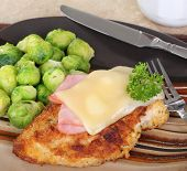 Stacked Chicken Cordon Bleu Dinner