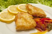 pic of hake  - Roman hake piminetos roasted in soy sauce - JPG