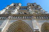Fragment Of Facade Of Famous Notre Dame De Paris (built In 1163-1345 Years), Paris, France poster