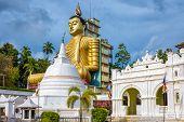 Wewurukannala Buddhist Temple In Dickwella, Sri Lanka. A 50m-high Seated Big Buddha Statue Is The La poster