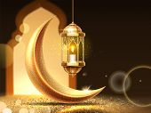 Ramadan Mubarak Or Kareem Background For Greeting Card. Eid Al-fitr Fasting Or Ramazan, Eid Al-adha  poster