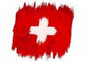 Vintage Swiss Flag. Swiss Flag In Grunge Style. Flag Of Switzerland poster
