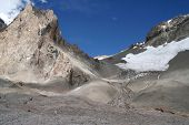 stock photo of aconcagua  - Ascending from Base Camp to Camp One on Aconcagua - JPG