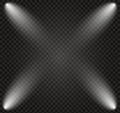 The Spotlight Shines On The Stage. Light Exclusive Use Lens Flash Light Effect. Light From A Lamp Or poster