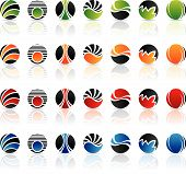 colorful round icons