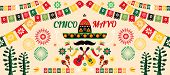 Happy Cinco De Mayo. Festive Cinco De Mayo Colorful Template  Poster Design. Perfect  For Your Holid poster