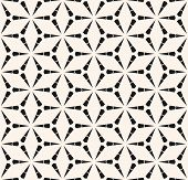 Vector Geometric Seamless Pattern With Triangles, Lattice, Grid, Mesh, Thin Lines. Stylish Modern Bl poster