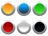 Vector round colorful buttons