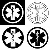 Emergency Symbol in Black & White