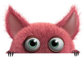 picture of gremlins  - 3 d cartoon cute furry Gremlin monster - JPG