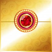 stylish golden rakhi background with space for your text