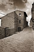 picture of ares  - Landscape with old town Ares in Spain - JPG