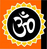 image of shakti  - Illustration of Om in bright colour in red background - JPG