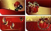picture of christmas cards  - Illustration of 4 Christmas Cards Design Templates - JPG