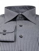black pinstriped dress shirt isolated over a white background