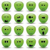 foto of smiley face  - vector collection of alien faces  - JPG