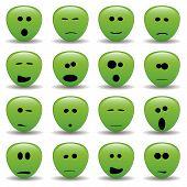 foto of smiley face  - vector collection of alien faces  - JPG
