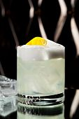 Vodka Sour - Cocktail with Vodka, Sugar Syrup, Lemon Juice and Egg White